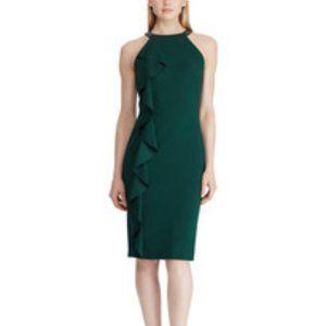 Lauren Ralph Lauren Ruffled Midi Cocktail Dress